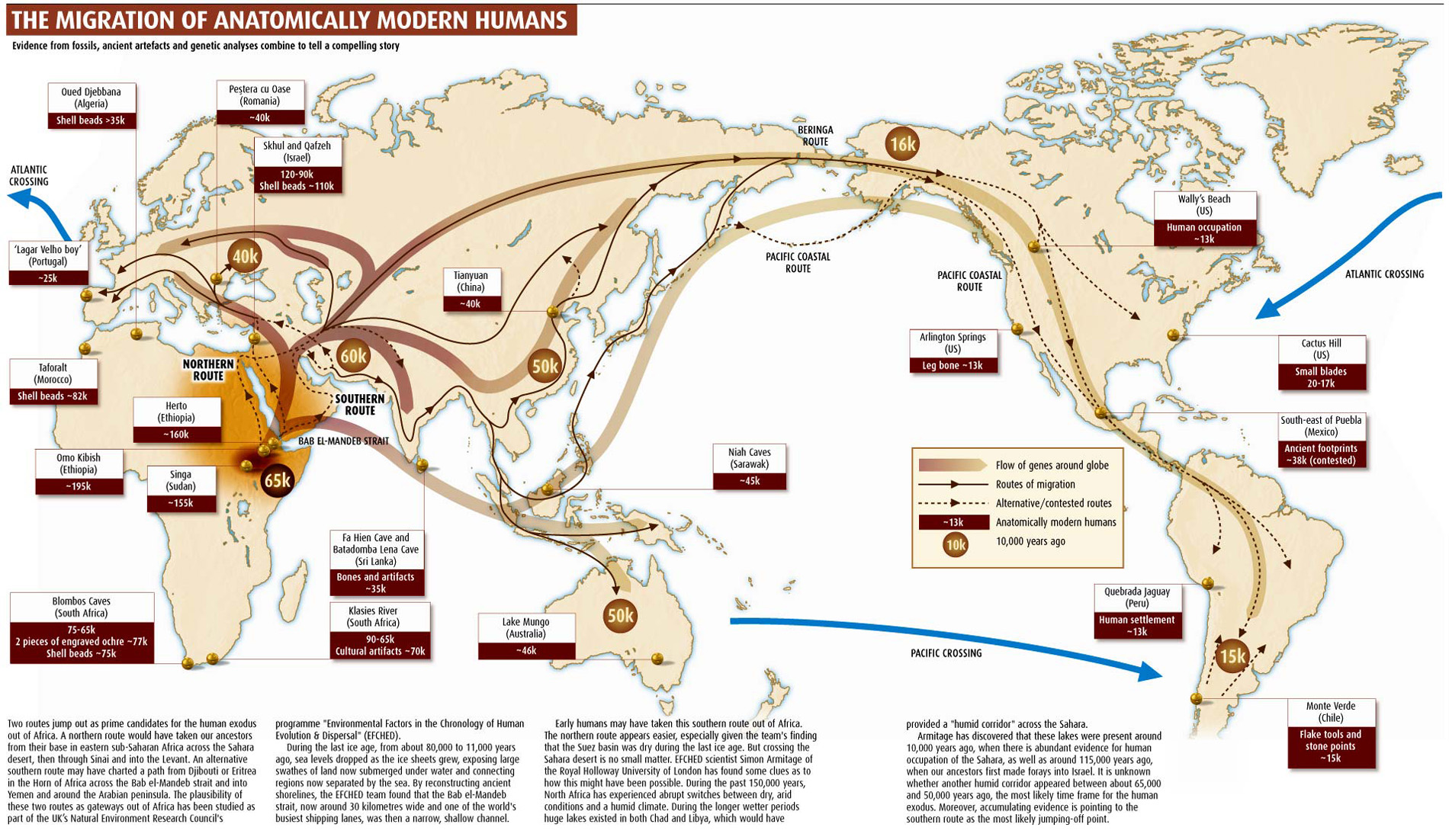 early human migration Discover the complete story of your ancestors' journey from 100,000 years ago to today with national geographic's geno dna ancestry kit.